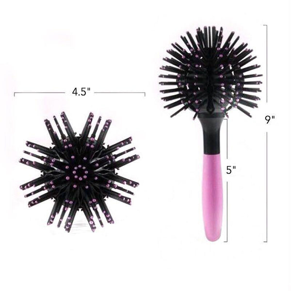 Hair Tamer Pink-Black Bomb Curl Brush