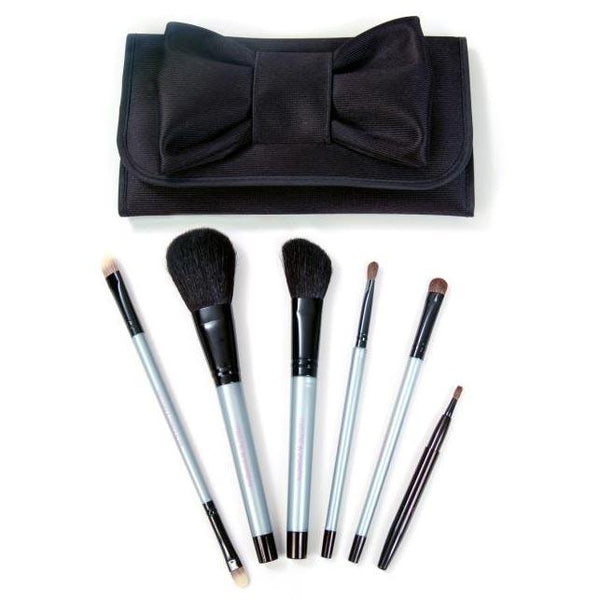 Marche Cosmetic Brush Set with Case Hair Brushes Spornette