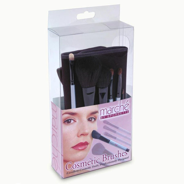 Marche Cosmetic Brush Set with Case Hair Brushes Spornette Default Title