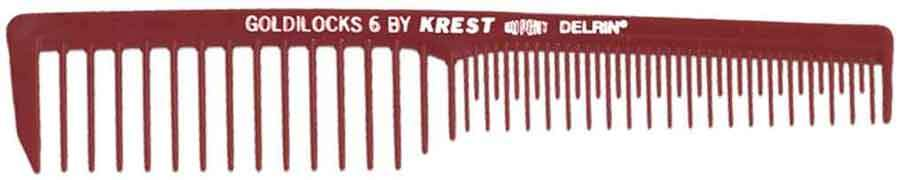 "Krest Goldilocks 7"" Burgundy Space Tooth Volume - 12 ct Hair Combs & Picks Krest Default Title"