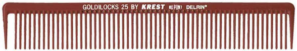 "Krest Goldilocks 7 1/4"" Burgundy Long Sectioning 12 ct Hair Combs & Picks Krest Default Title"