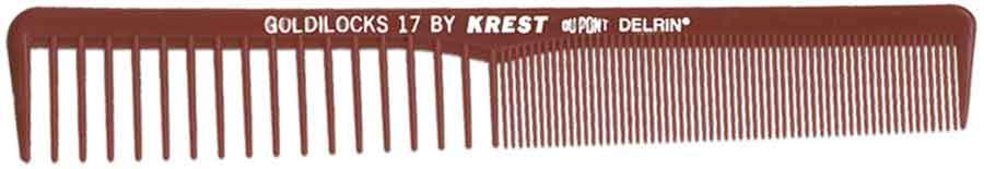 "Krest Goldilocks 7"" Burgundy Space/Fine Tooth Styler 12 ct Hair Combs & Picks Krest Default Title"