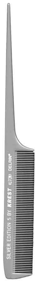 Krest Goldilocks Rattail Comb 12ct Hair Combs & Picks Krest Plastic Silver