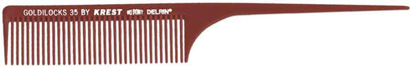 Krest Goldilocks Burgundy Coarse Rattail Comb - 12ct Hair Combs & Picks Krest Plastic
