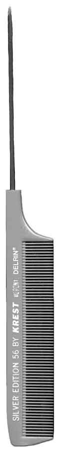 Krest Goldilocks Rattail Comb 12ct Hair Combs & Picks Krest Stainless Steel Silver