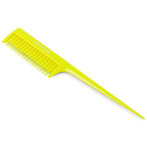 Hair Tamer Double Rack Tail Comb Hair Combs & Picks Hair Tamer Yellow