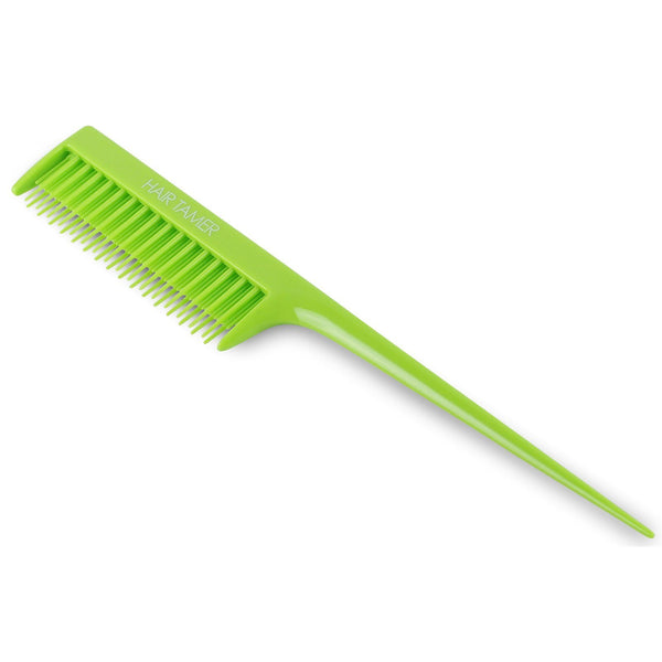 Hair Tamer Double Rack Tail Comb Hair Combs & Picks Hair Tamer Green