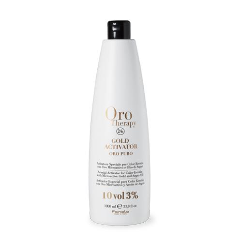 Fanola Oro Therapy 24k Gold Activator Hair Color Developers Fanola 10 Vol 1000 mL