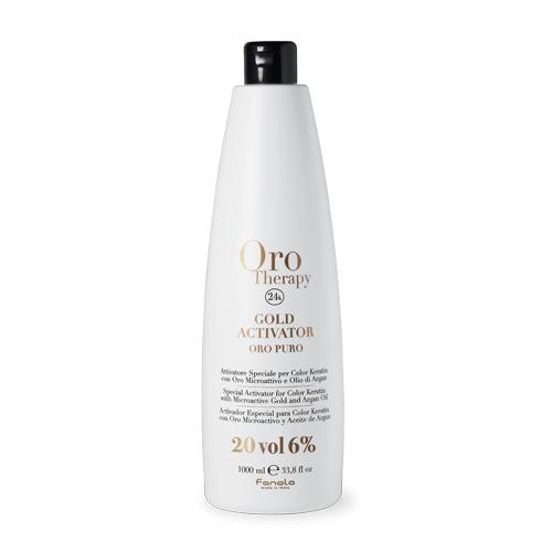 Fanola Oro Therapy 24k Gold Activator Hair Color Developers Fanola 20 Vol 1000 mL