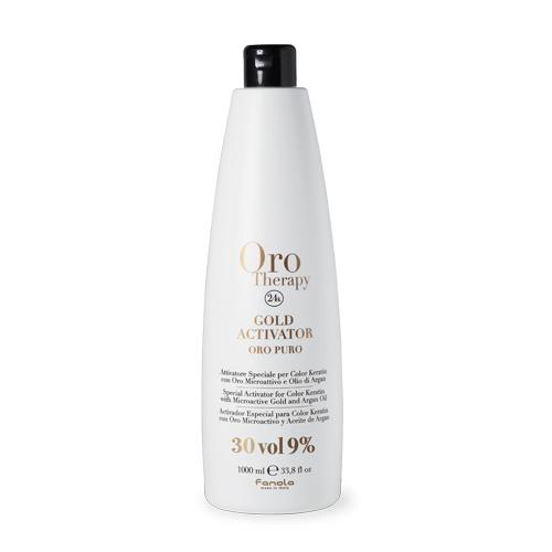 Fanola Oro Therapy 24k Gold Activator Hair Color Developers Fanola 30 Vol 1000 mL