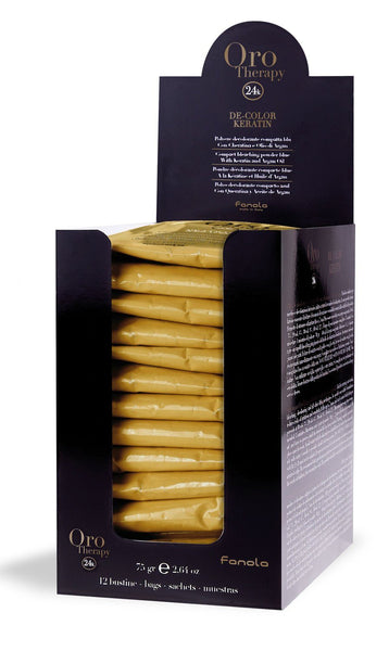 Fanola Oro Gold Therapy Bleaching Powder, 75 g x 12 pieces Hair Color Bleaches Fanola Default Title