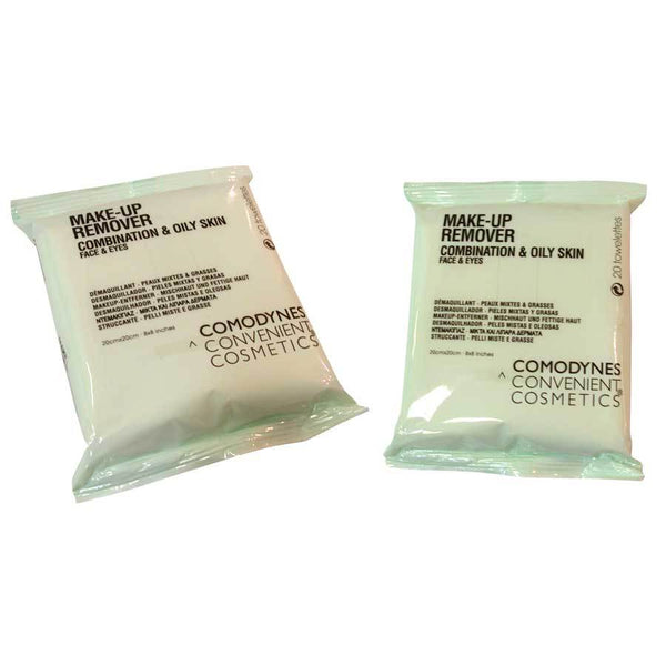 Comodynes Make-Up Remover Towelettes, Combination and Oily Skin
