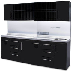 Icarus Black Full Color Bar Station With Sink Shampoo Furniture & Cabinets Icarus Default Title