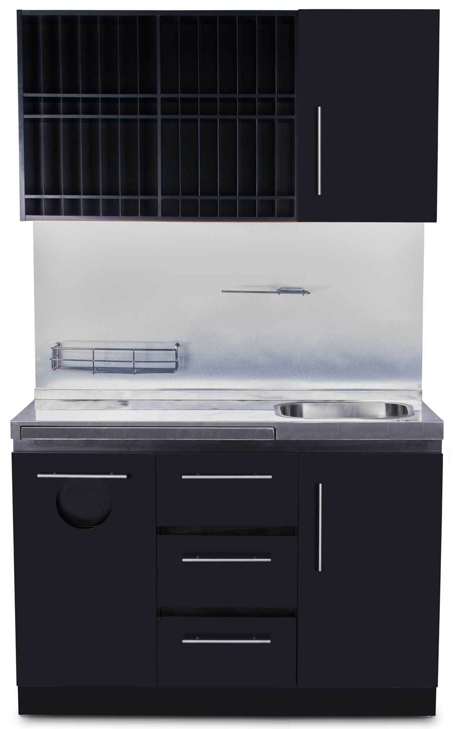 Icarus Modern Style Wood Color Bar with Sink Shampoo Furniture & Cabinets Icarus