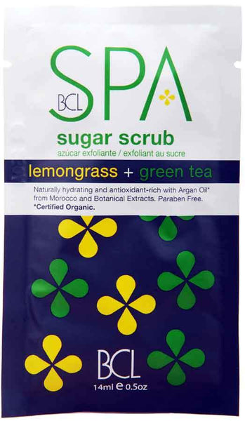 BCL Spa Sugar Scrub Packette Skin Care BCL Spa Lemongrass + Green Tea