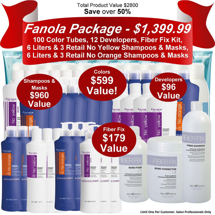 Fanola Color Promo Package - 100 Tubes Hair Shampoos Fanola Pro2 Default Title