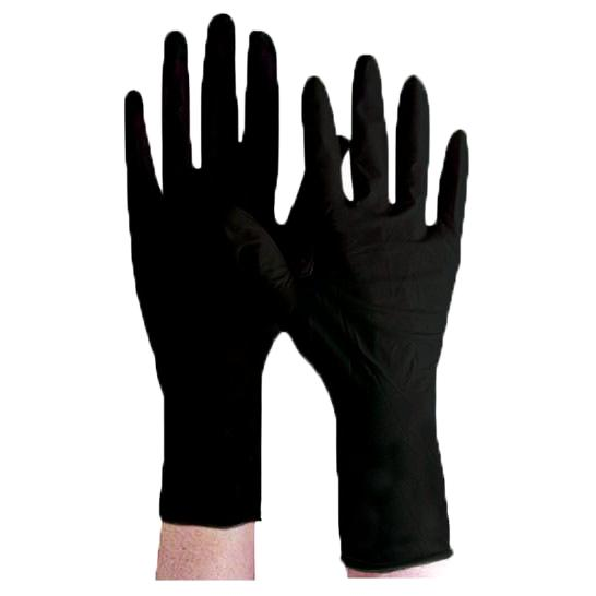Premium Jet Black Reusable Latex Glove Gloves Product Club