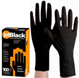 Product Club Jet Black Nitrile Disposable Gloves - 100 ct Lrg Gloves Product Club Default Title