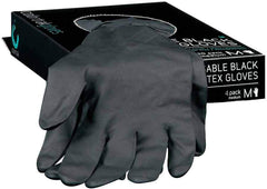 ColorTrak Medium Black Reusable Latex Gloves - 4 ct