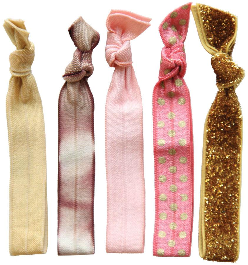 Dye Tie Hair Tie Set - 5 ct Hair Barrettes, Bands & Ties Dye Tie Golden Girl