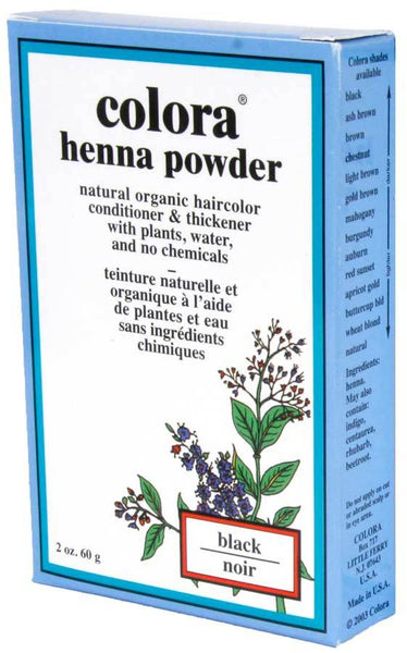 Colora Henna Powder Hair Color - 2 oz Permanent Hair Coloring Colora Light Brown