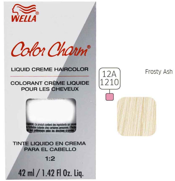 Wella Color Charm Ash Liquid Creme Haircolor Permanent Hair Coloring Wella Frosty Ash