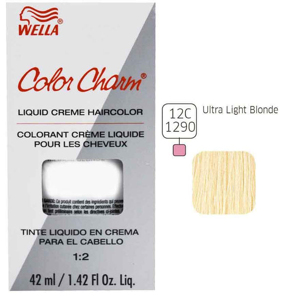Wella Color Charm Ash Liquid Creme Haircolor Permanent Hair Coloring Wella Ultra Light Blonde