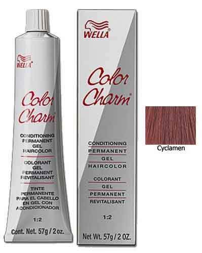 Wella Color Charm Red Permanent Gel Haircolor Permanent Hair Coloring Wella Cyclamen