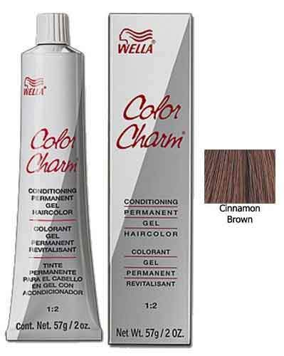 Wella Color Charm Red Permanent Gel Haircolor Permanent Hair Coloring Wella Cinnamon Brown