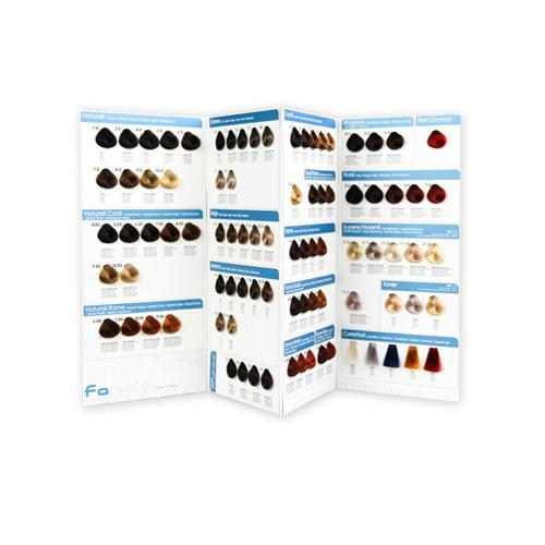 Fanola Color Swatch Chart, Small Hair Color Accessories Fanola