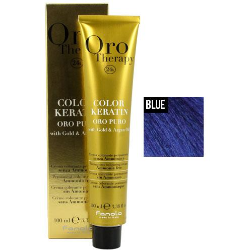 Fanola Oro Puro Intensifier Coloring Cream Permanent Hair Coloring Fanola Blue