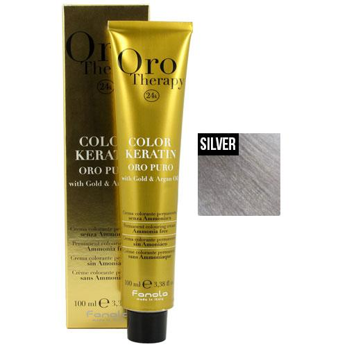 Fanola Oro Puro Intensifier Coloring Cream Permanent Hair Coloring Fanola Silver