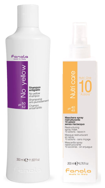 Fanola No Yellow Shampoo & Nutri One 10 Azioni Spray Hair Shampoos Fanola 350 ml