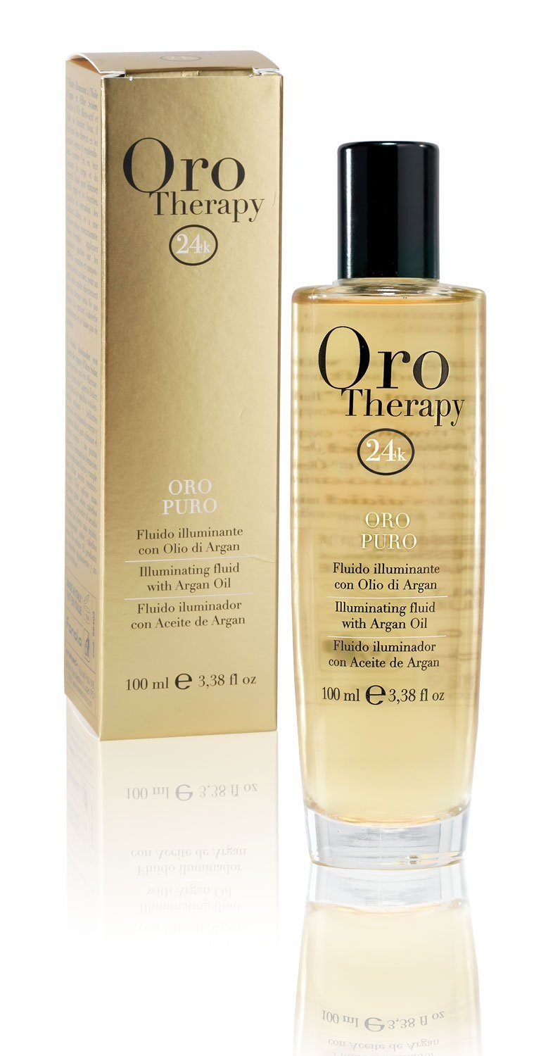 Fanola Oro Therapy Illuminating Fluid With Argan Oil, 100 ml Hair Treatments Fanola 100 ml