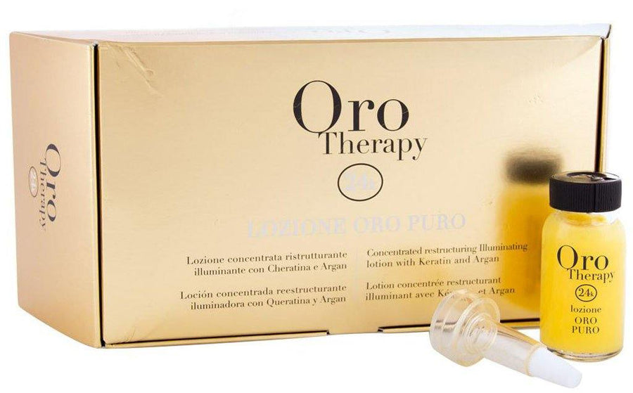 Fanola Oro Puro Lozione Argan Concentrate Lotion Keratin Hair Treatments Fanola Lozione Argan