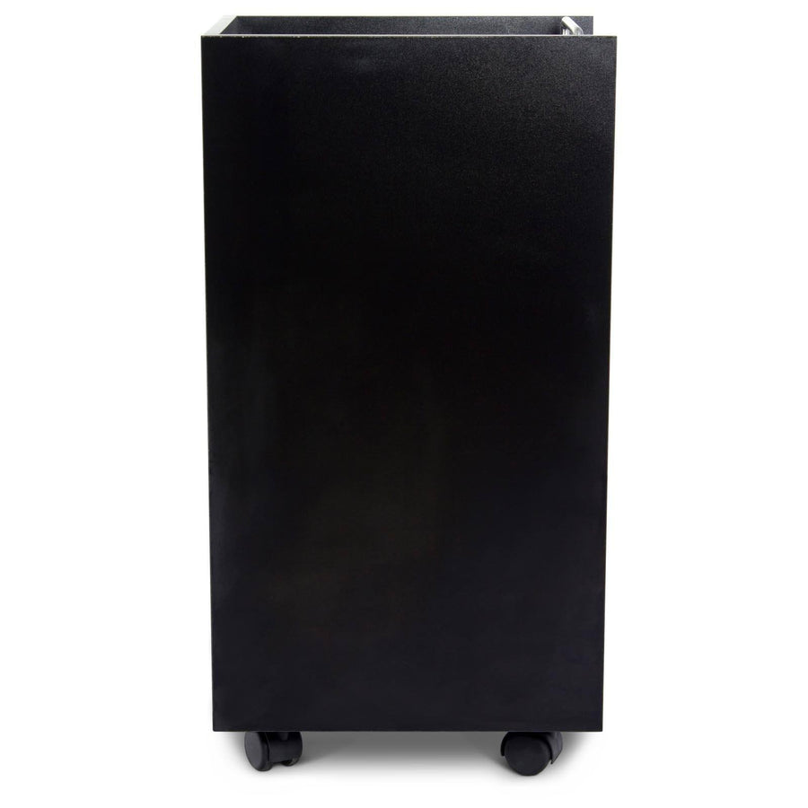 """Bucca"" Black Beauty Salon Rolling Storage Trolley Cart Trolleys Carts & Rollabouts Icarus"
