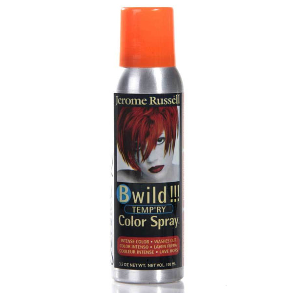 Jerome Russell Temporary Hair Color Spray, Tiger Orange Permanent Hair Coloring Jerome Russell Default Title