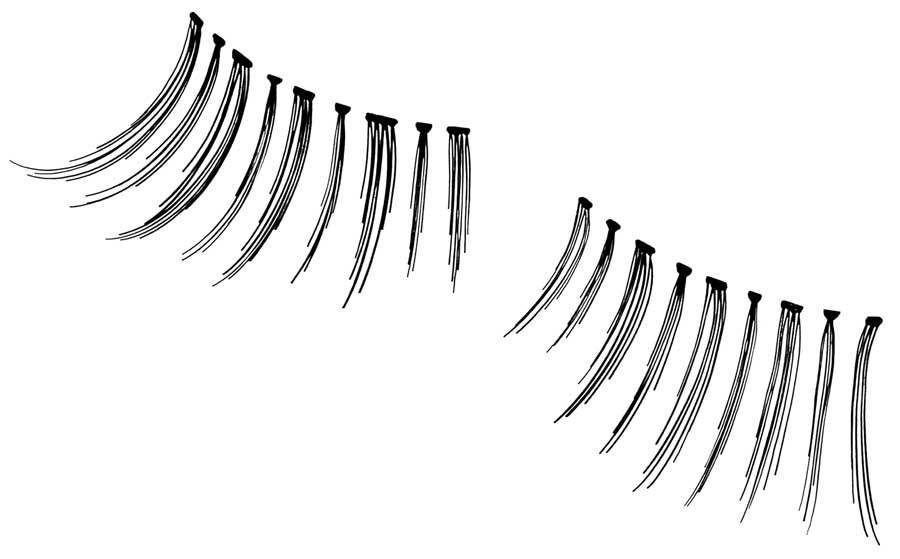 Andrea Black Accent Lashes Lashes Andrea #308 1 pair