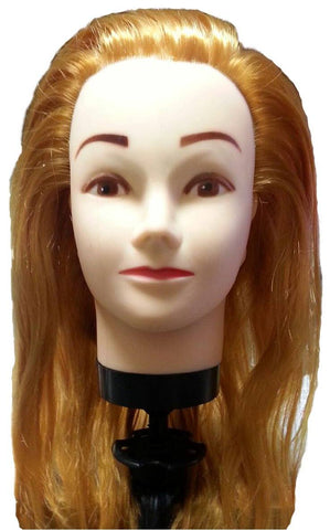 "Cosmetology Mannequin Head 18"" Synthetic Hair"