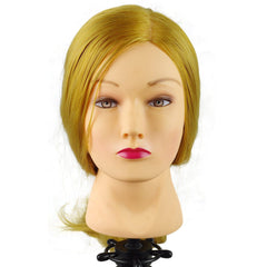 "Cosmetology Mannequin Head 20"" - 24"" Golden Blonde Hair"