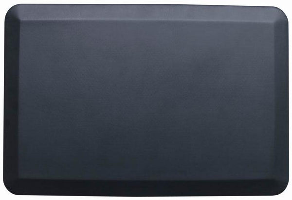 Black Rectangular Anti-Fatigue Floor Mat - 30.5