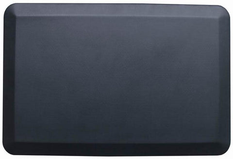"Black Rectangular Anti-Fatigue Floor Mat - 30.5"" x 20.5"""