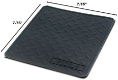 "Icarus Silicone Heat Resistant Proof Tray Mat 7.75"" x 7.75"""