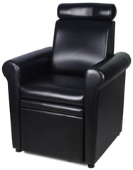 """Crest"" Black Pedicure Foot Spa Station Chair Pedicure Equipment Icarus Default Title"
