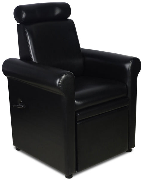 """Crest"" Black Pedicure Foot Spa Station Chair Pedicure Equipment Icarus"