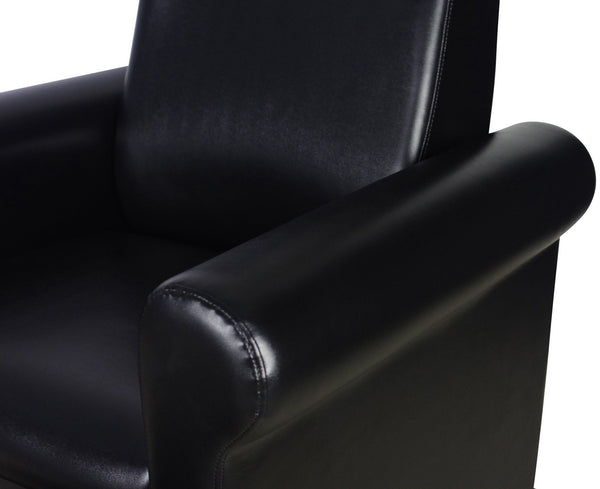 """Crest"" Black Pedicure Foot Spa Station Chair"