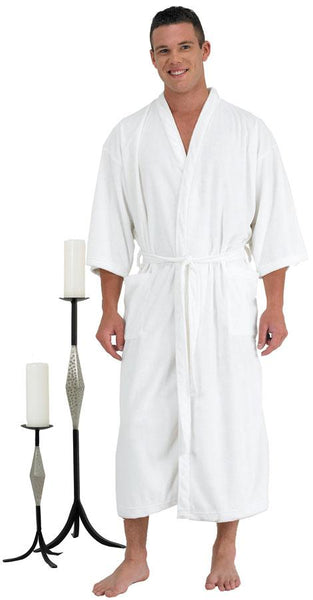 Canyon Rose Men's Spa Robe Client Robe Canyon Rose Medium/Large White