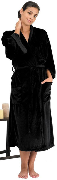 Canyon Rose Women's Long Spa Robe Client Robe Canyon Rose XL Black