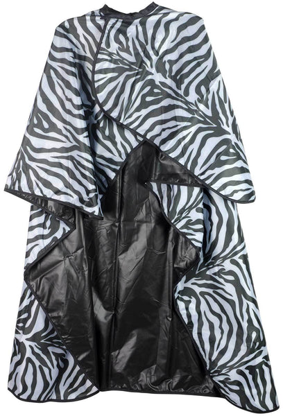 Icarus Professional Reversible Styling Salon Cape with Snaps, Zebra Cutting Cape Icarus