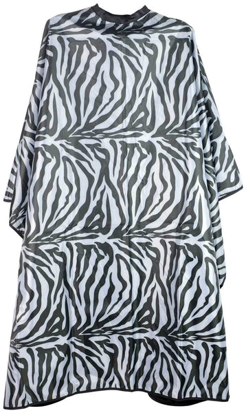 Icarus Professional Reversible Styling Salon Cape with Snaps, Zebra